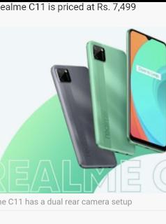RealMe C11 smartphone runs on Android