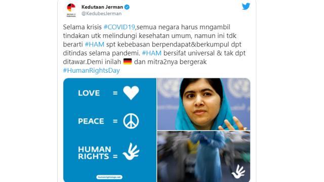 Bikin Status Kebebasan HAM Ditindas, Akun Kedubes Jerman Diserang, Dituduh Radikal