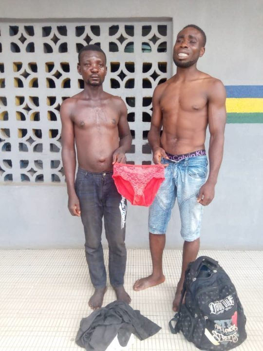 Two men arrested while fighting over stolen panties