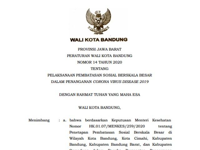Ini Aturan Transportasi di Kota Bandung Saat PSBB Sesuai Perwal Nomor 14 Tahun 2020