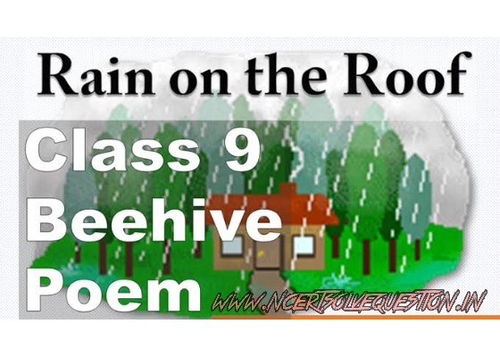 NCERT Solution [Rain On The Roof] Beehive (CLASS 9)  Chapter 3 poem