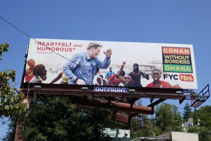 Conan Without Borders Ghana Emmy FYC billboard