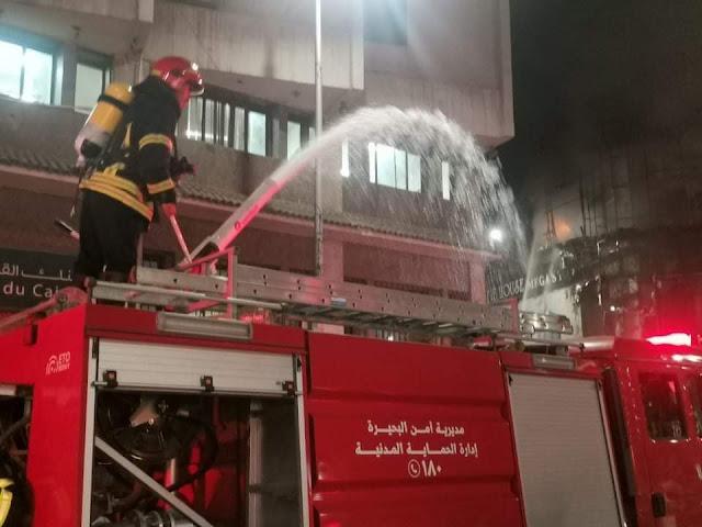 بالصور.. حريق في «مول ملابس» شهير بالبحيرة