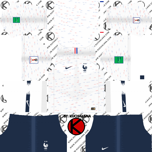 d5e51dbe5 France 2018 World Cup Kit - Dream League Soccer Kits - Kuchalana