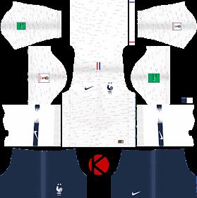 France Two Star 2018 Nike Kit -  Dream League Soccer Kits