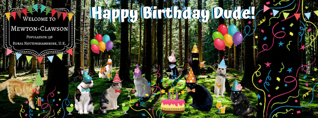 Happy Birthday Parsley Dude Mewton-Clawson Cats The B Team Pawty ©BionicBasil®