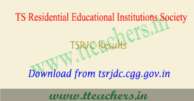 TSRJC Results 2019, Manabadi result, counselling dates