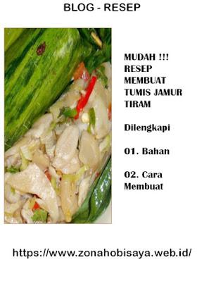 MUDAH !!! Resep Cara Bikin Tumis Jamur Saus Tiram