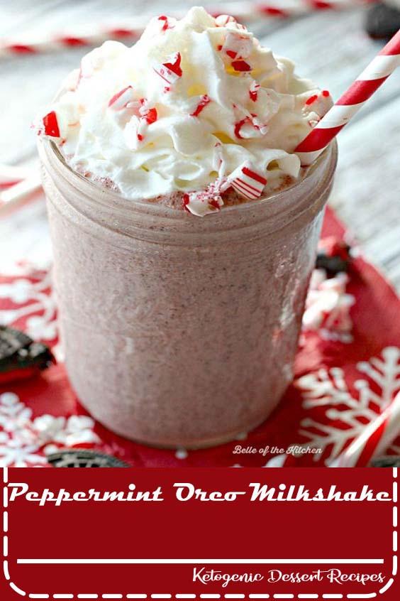 Peppermint Oreo Milkshake