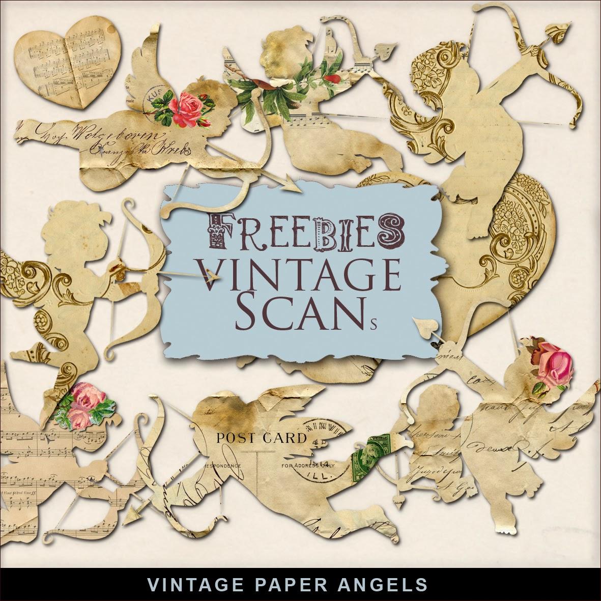 Freebies Kit of Vintage Style Paper Angels