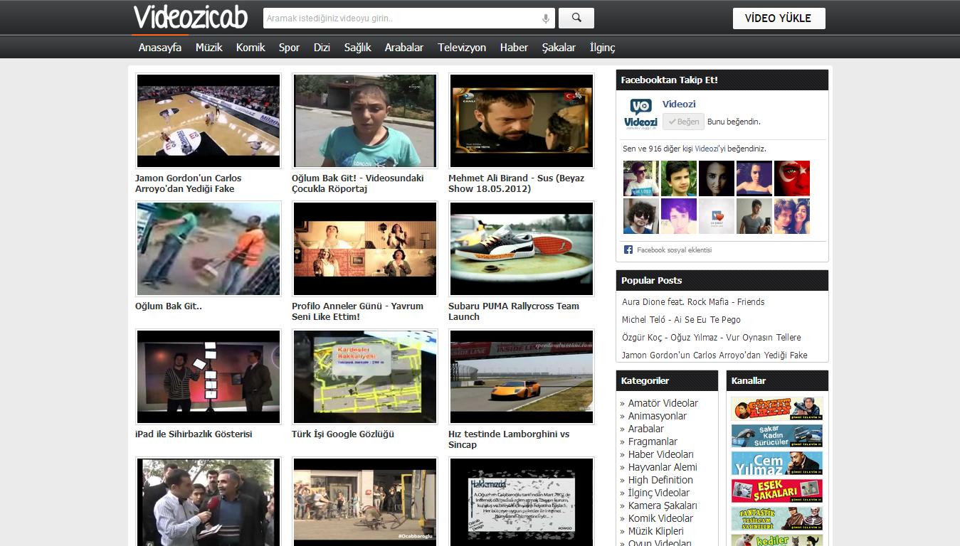 Videozicab Blogger Video Teması