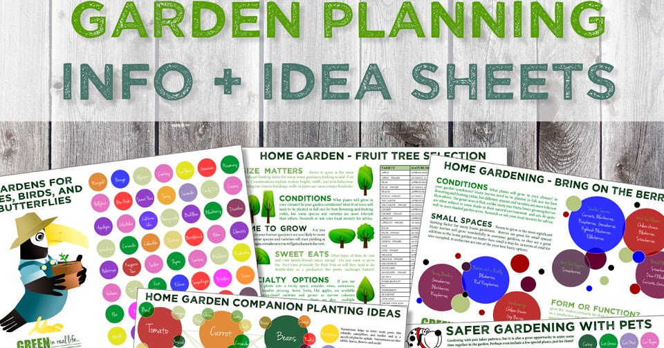 Green in Real Life: Gardening Infographics + Planning Ideas
