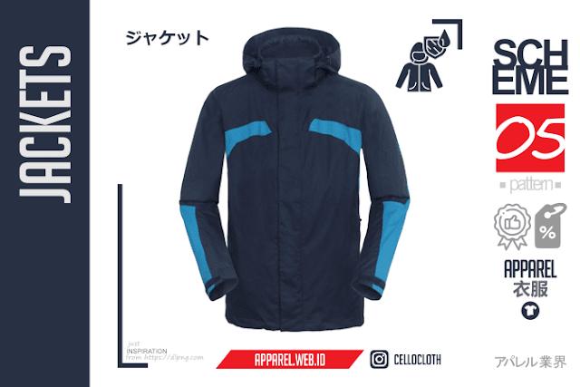 Jacket Kombinasi Biru Muda dan Biru Tua Scheme 05