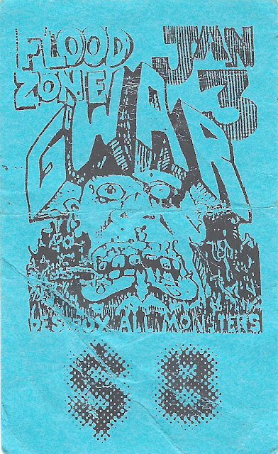 Old Band Flyers - 03 - Gwar - Flood Zone - Richmond VA