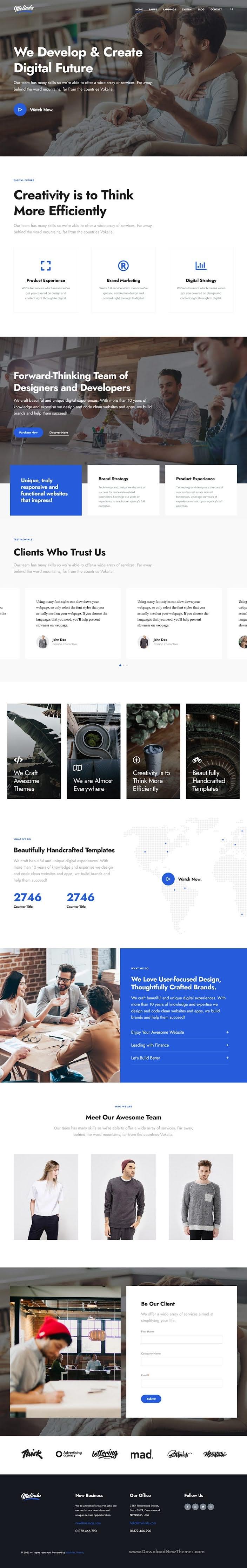 Melinda - Multi-Purpose HubSpot Theme