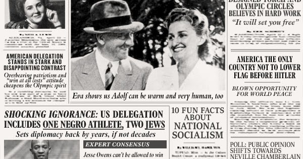 NEW YORK TIMES 1936: Eva Braun stuns, fascinates at Berlin Olympics