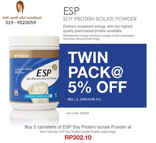 ESP Shaklee buy 2 diskaun 5%