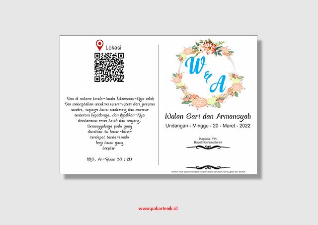 Download Undangan Pernikahan Simpel Format CDR