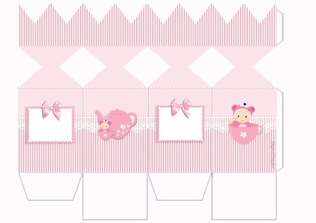 Cajas de Bebé Niña en Rosa para imprimir gratis.