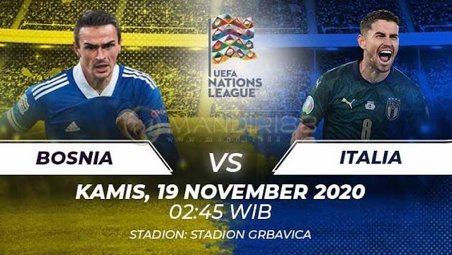 Prediksi Bosnia Herzegovina Vs Italia, Rabu 19 November 2020 Pukul 02.45 WIB @ Mola TV