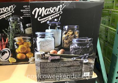 Costco 1050075 - Oversized Mason Jars (4 pc): great for any kitchen