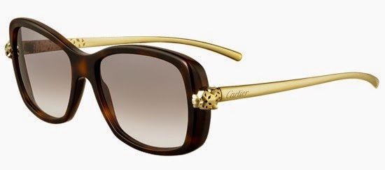 a8f78b61c38f2 Metal meets composite in Panthère de Cartier WILD T8200868  sophisticated  gold champagne arms extend from the elegant havana composite frame