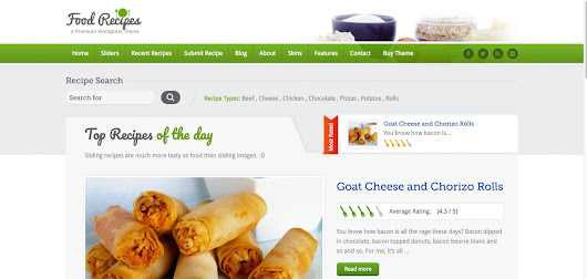Top 5 Best Cooking Recipes Wordpress Theme