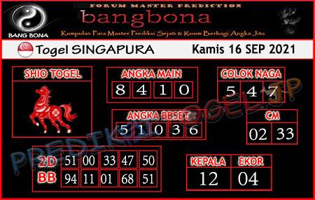 Prediksi Bangbona SGP Kamis 16 September 2021