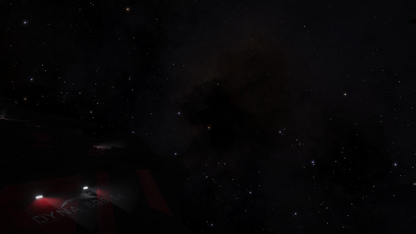 """A hajóm a Chamaeleon Nebula """"előtt""""."""