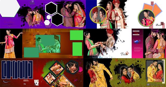 indian wedding album templates psd files 2021
