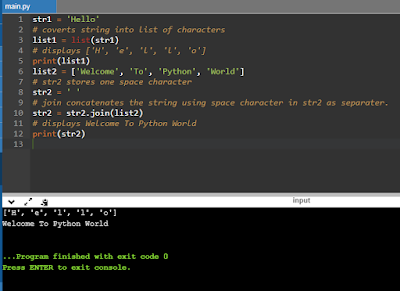 Python Lists - String To List and vice Versa(cbse.eduvictors.com)