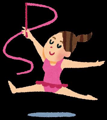 新体操をする女性のイラスト