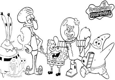 Kumpulan Gambar Mewarnai Spongebob Terbaru Gambar Mewarnai Spongebob