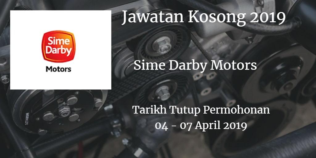 Jawatan Kosong Sime Darby Motors 04 - 07 April 2019