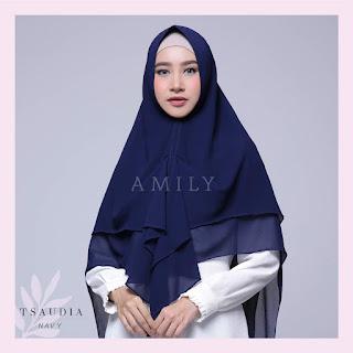 Hijab Amily Tsaudia Navy