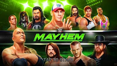 تحميل لعبة المصارعة الحرة WWE Mayhem v1.5.18 مهكرة للاندرويد (آخر اصدار)