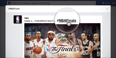 Facebook Hashtags of NBA