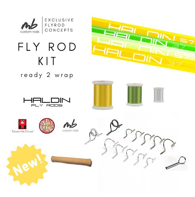 MB CUSTOM RODS - Haldin Ready 2 Wrap Fly Rod Kits