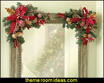 Gilded Pine Cone Holiday Corner Floral Bouquets