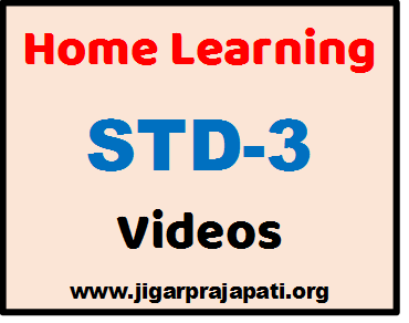 "[STD-3] DD Girnar Live TV ""Home Learning"" Videos by GCERT, SSA Gujarat"