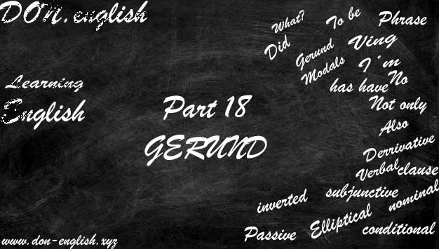 Penggunaan Gerund dan Infinitive (Pola Contoh Latihan Soal)