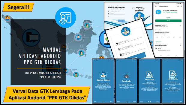 Verval Data GTK Lembaga Pada Aplikasi Andorid PPK GTK Dikdas