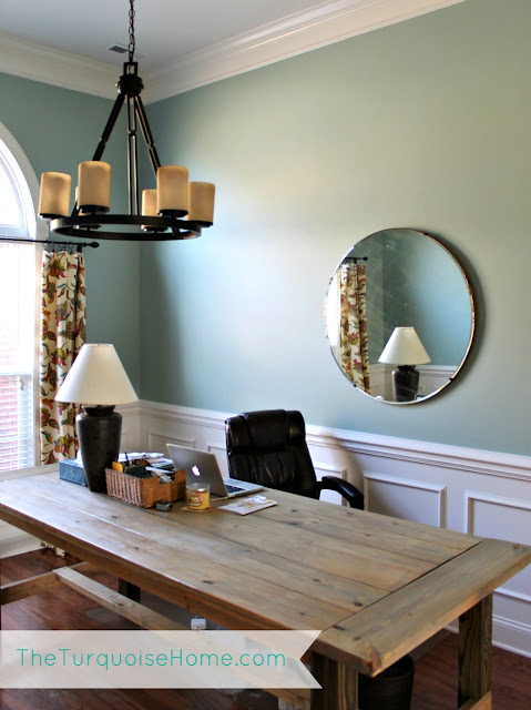how to hang heavy mirror