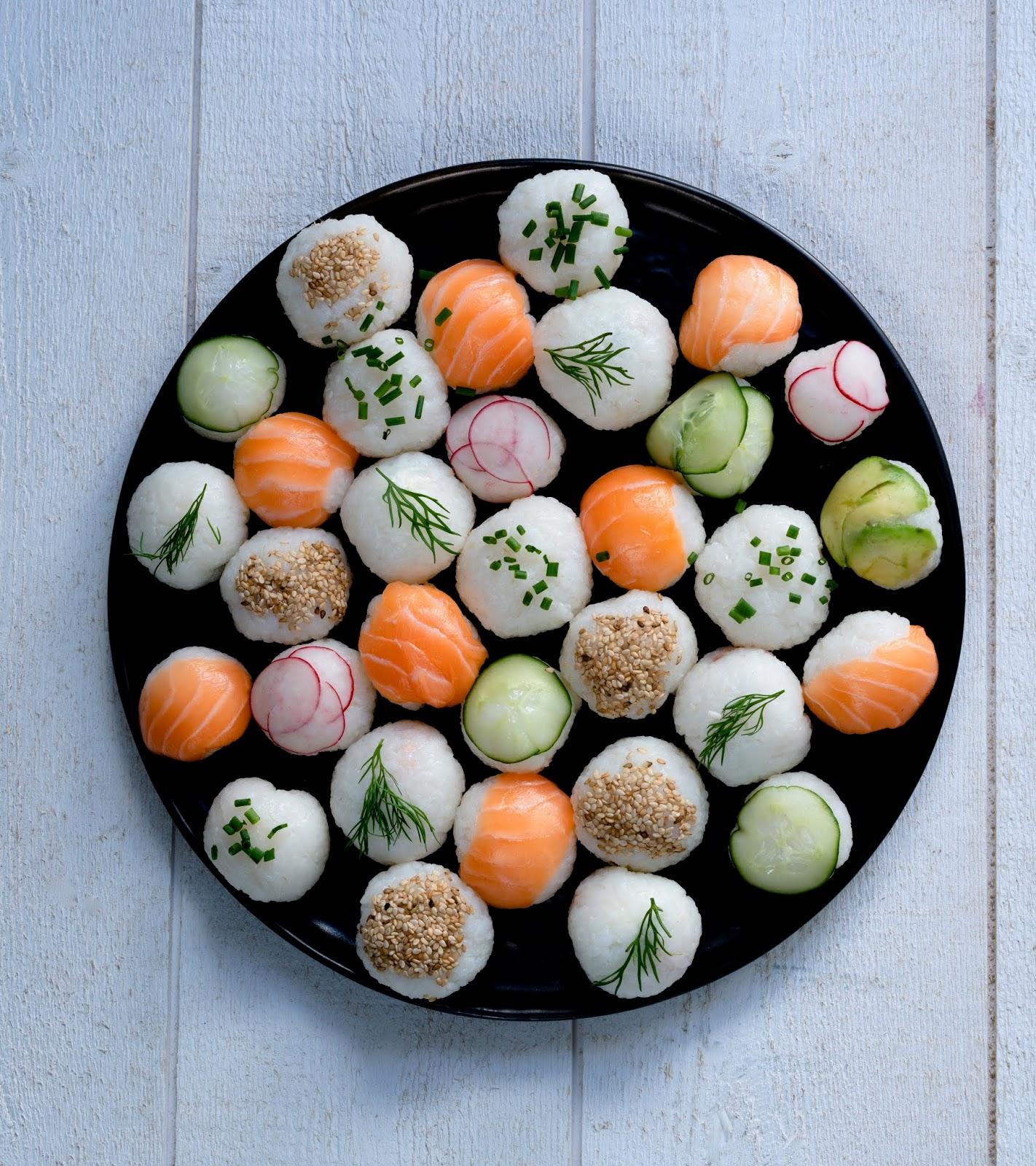 idée pour un pique nique , petits sushis , sushis maison