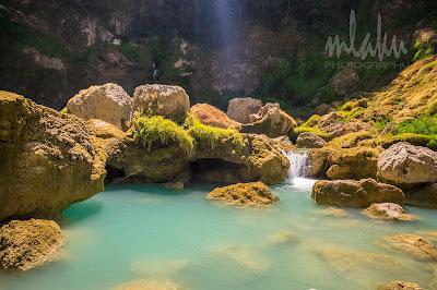Sungai di Air terjun Matayangu