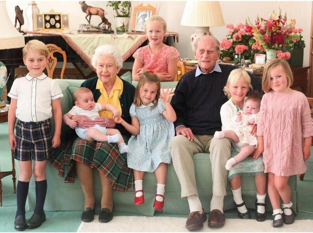 Royal Family Release Unseen Photos Of Prince Philip, Queen Elizabeth Surrounded By Their Great-Grandchildren
