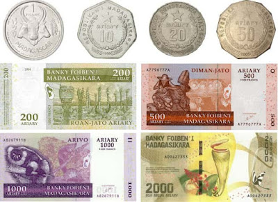 Countries and Currency Malagasy ariary