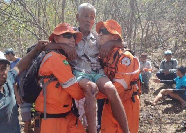 Idoso de 89 anos é resgatado após se perder em mata fechada em Canindé
