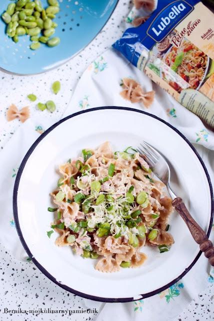 makaron, lubella, obiad, bób