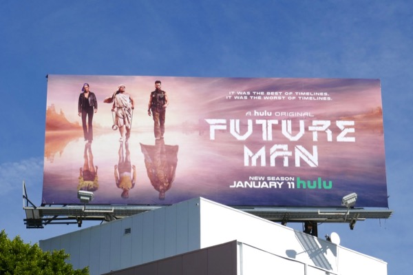 Future Man season 2 Hulu billboard